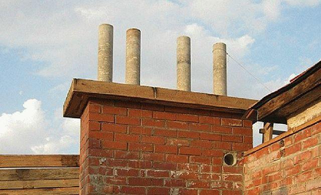 Дымоход из асбестовой трубы в деревянном доме дымоходы для печи газогенераторной