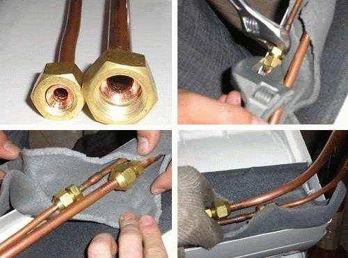 Установка сплит системы кондиционера с пайкой медных труб кондиционер panasonic cs cu a9hkd